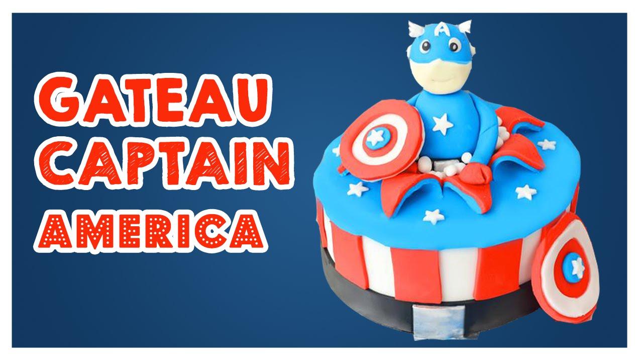 Préférence Gâteau Captain america - Cake Design - YouTube SJ03