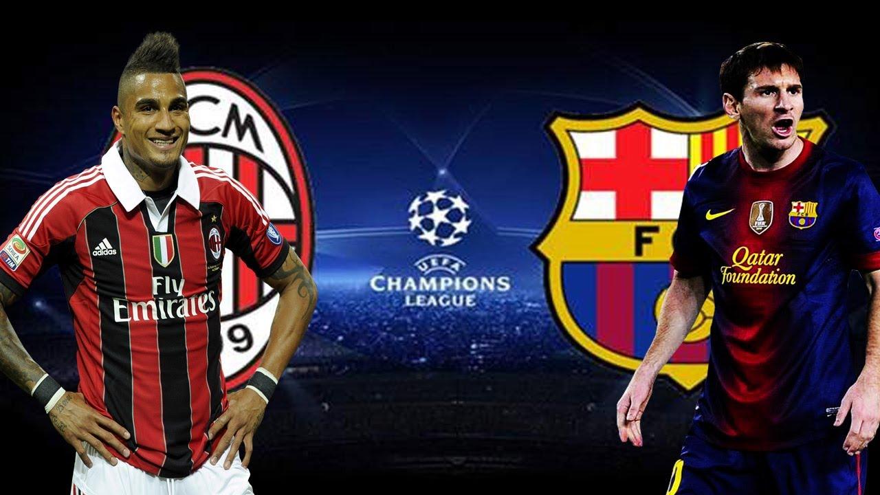 F C Barcelona Vs A C Milan Champions 12 03 2013 Hd Pes 2013 Youtube