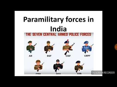 Best explained about Central armed police force ( popularly known as paramilitary force in india)
