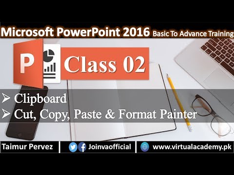 Microsoft PowerPoint Complete Course | Office Clipboard | Cut, Copy, Paste and Format Painter.  02 thumbnail