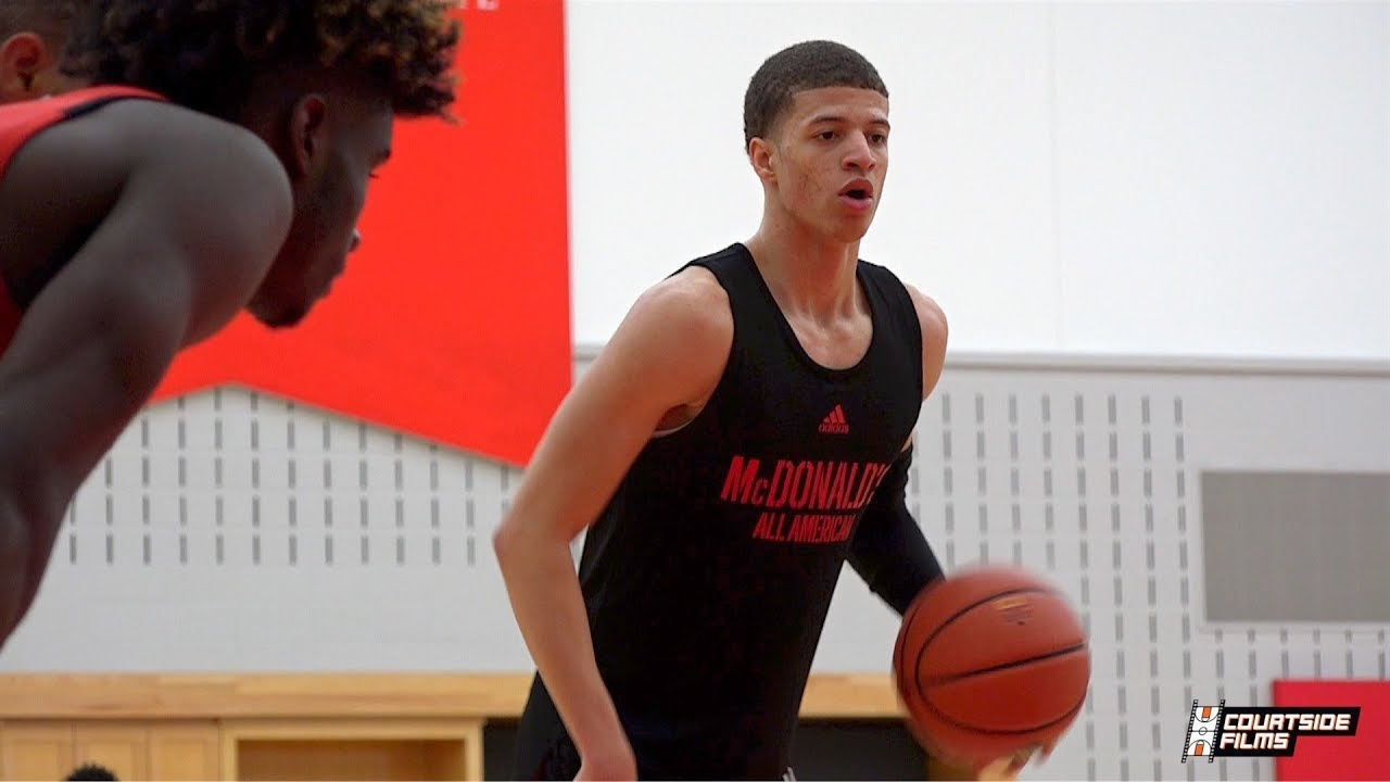 54977330e869 Louisville Commit Samuell Williamson Boosts Pro Stock In Front of NBA  Scouts   McDAAG Practice!