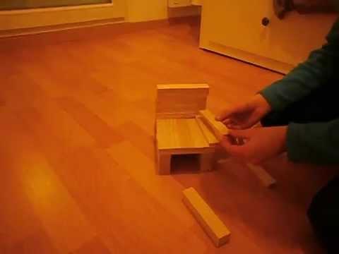Kapla comment faire une chaise youtube for Fabriquer une chaise
