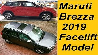Maruti Brezza Facelift 2019 Changes Explained. Sunroof, Side Airbags, Petrol Engine