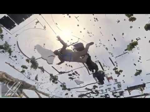GTA 5 PC: Trevor falls under map (Funny Moments)
