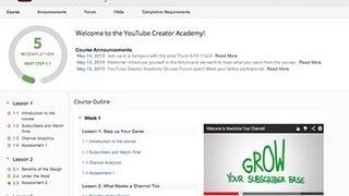 Как пройти обучение в YouTube Creator академии