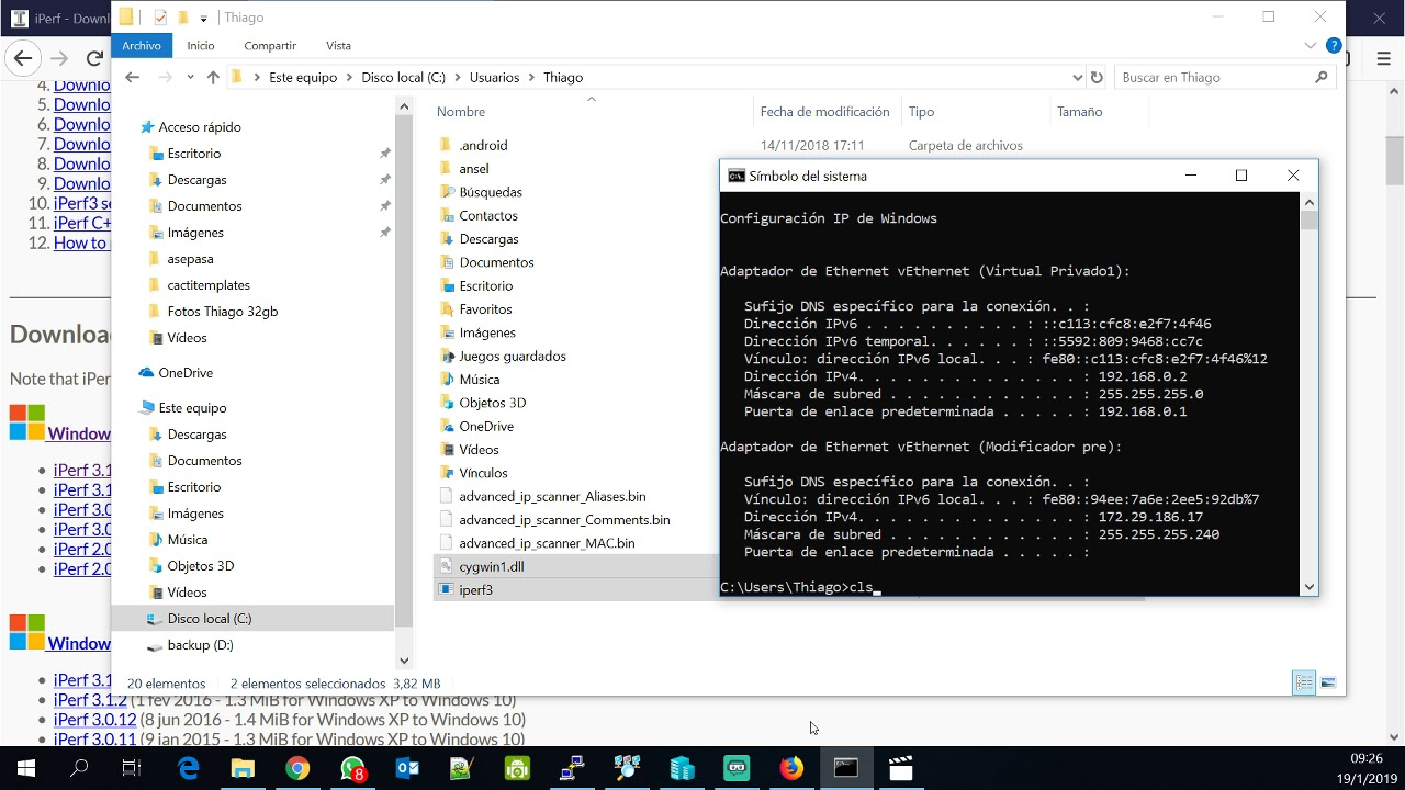Tutorial iperf3 windows linux comandos como usar