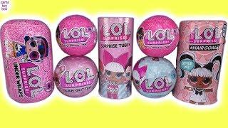 LOL SURPRISE DOLLS Series 1 4 5 PETS HairGoals Glam Glitter UNDER Wraps TUBES Unboxing TOYS