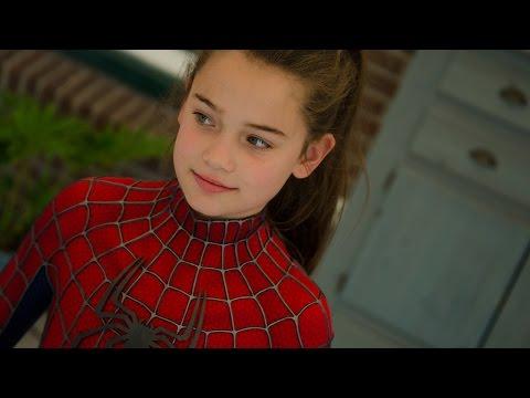 Spider-Girls! - 2 Kids (13 & 11) dress up in movie quality Spider-Man suit