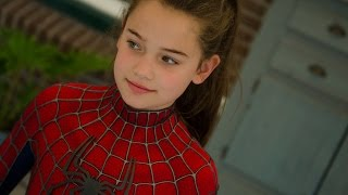 Spider-Girls! - 2 Kids Dress Up in Movie Quality Spider-Man suit