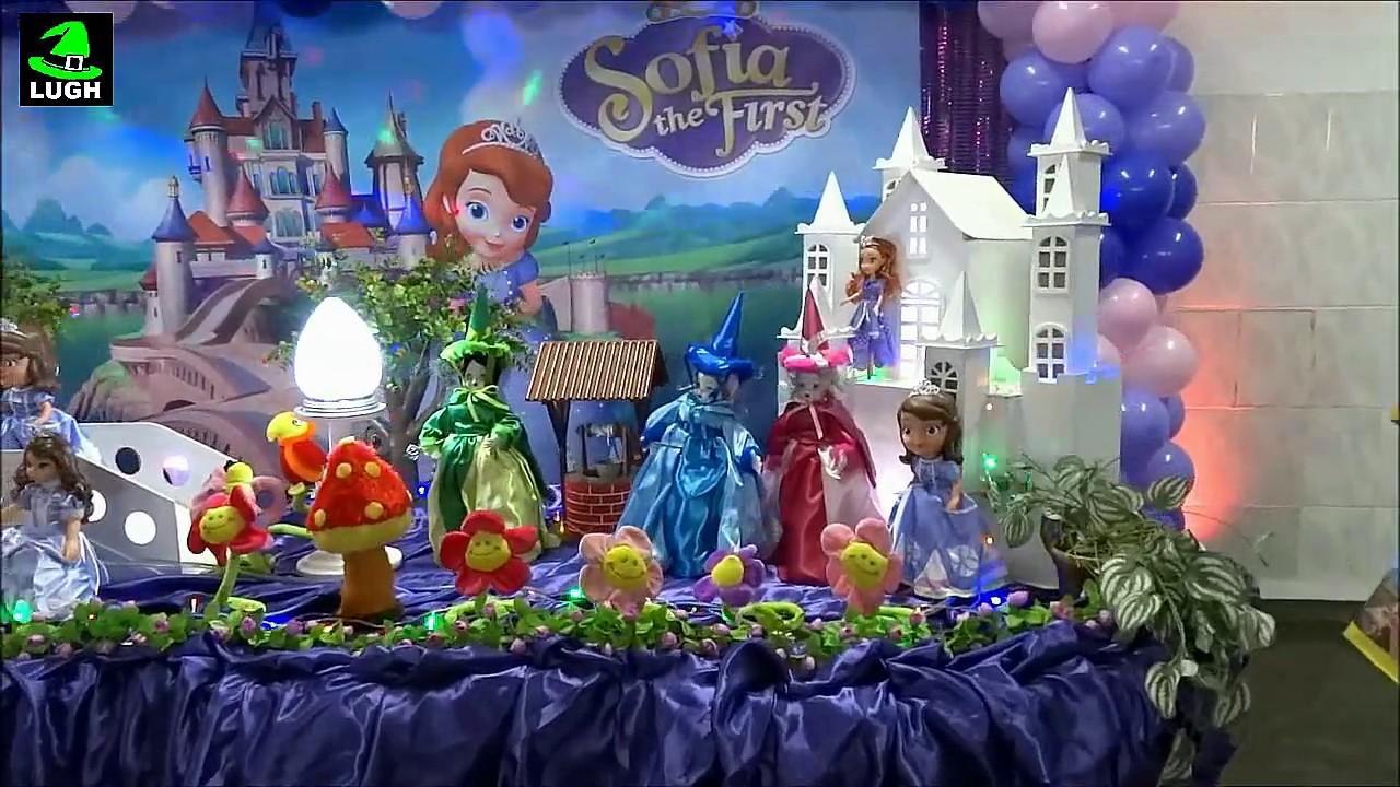 Decoraç u00e3o infantil Princesa Sofia para festa de aniversário YouTube -> Decoração De Aniversário Princesa Sofia