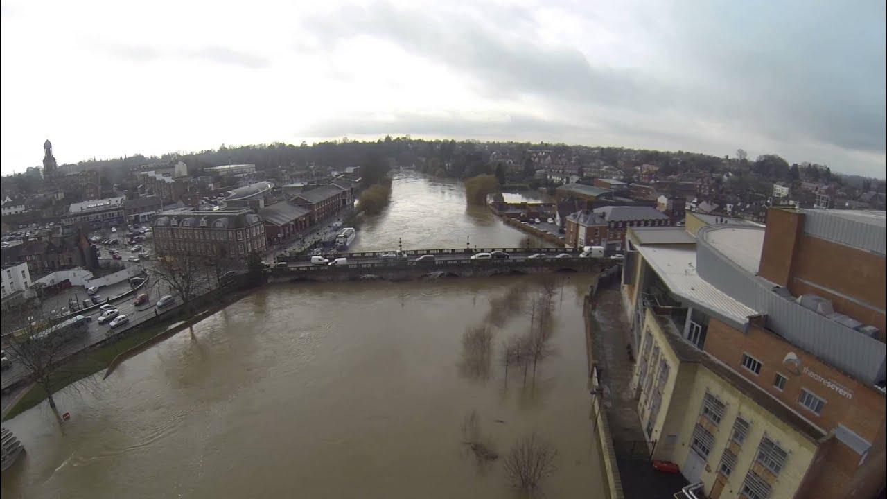 Frankwell Floods Shrewsbury 10 February 2014 Youtube