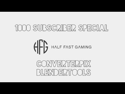 1000 Subscriber Special | Using ConverterPIX and Blendertools | Import and Export
