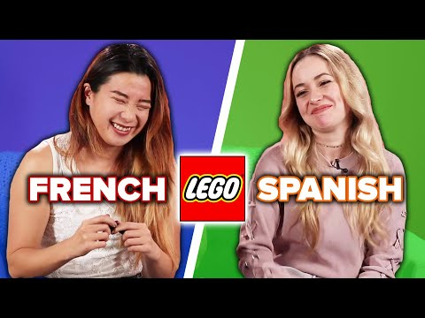 Strangers Try to Build Legos While Speaking Different Languages