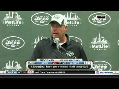 Rex Ryan Press Conference MELTDOWN!! Jets vs Giants 2013