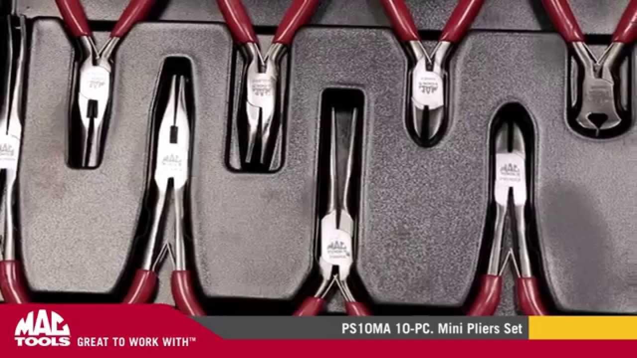 Mac Tools - Ps10ma - 10-pc  Mini Pliers Set