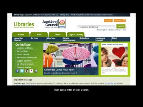 How to search Auckland Libraries' catalogue