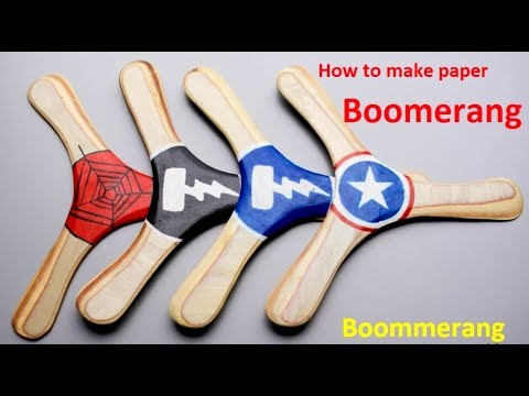 How to make paper boomerang, how to make simple boomerang