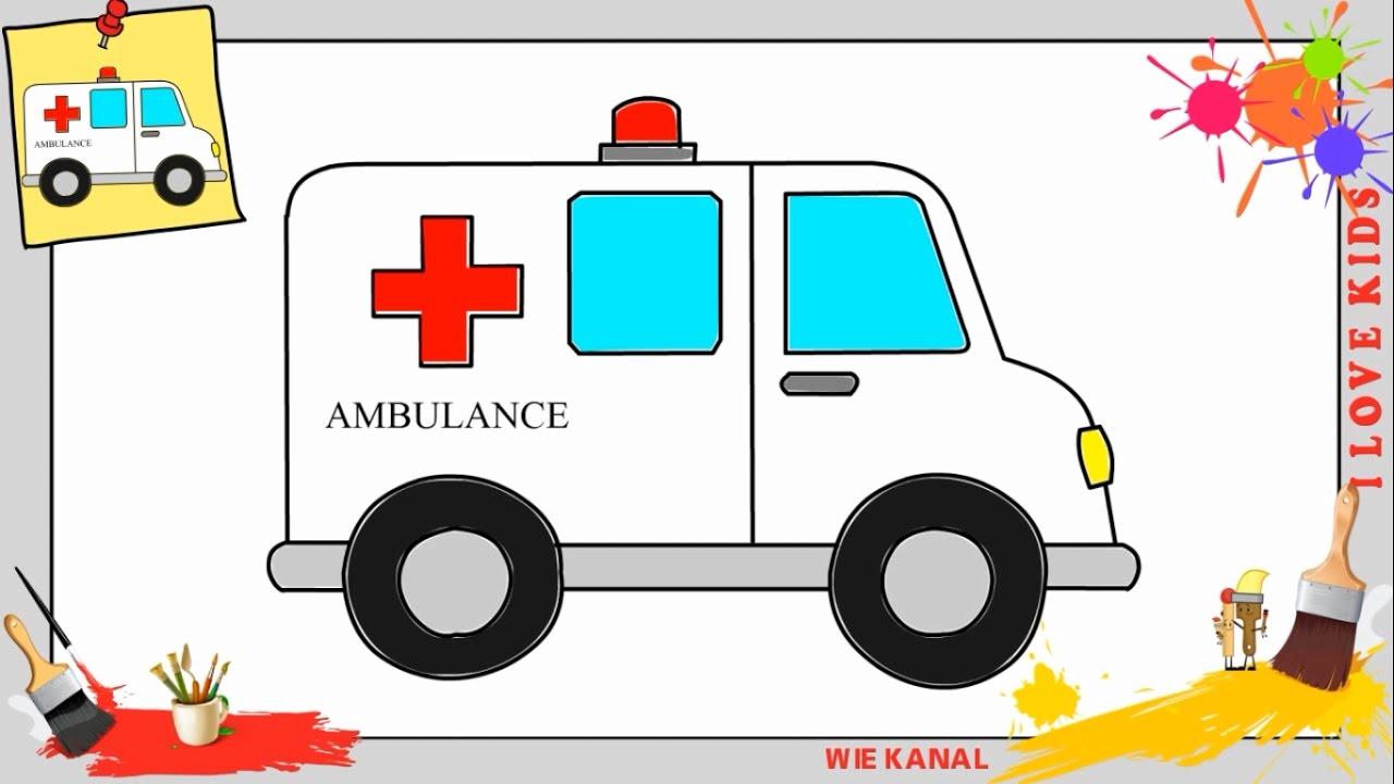 krankenwagen zeichnen 2 schritt f r schritt f r anf nger. Black Bedroom Furniture Sets. Home Design Ideas