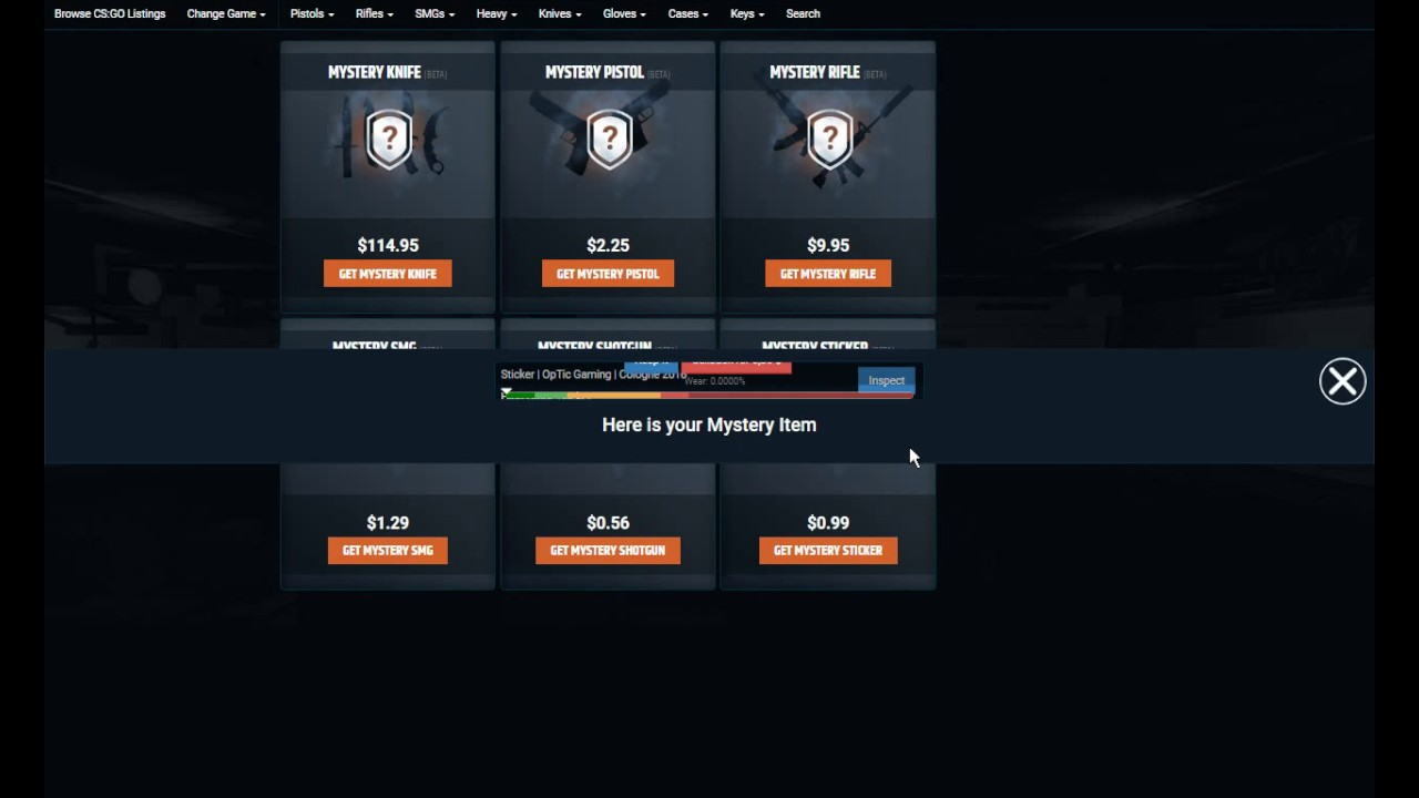 mystery items opskins