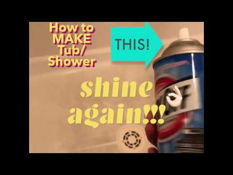 (LIFE HACK)EASIEST WAY to Clean Shower Floor - Using Easy Off oven cleaner Fume Free