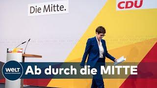 WELT THEMA: Kramp-Karrenbauer zieht die Reißleine - CDU kalt erwischt