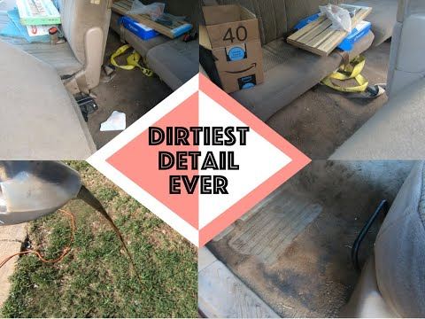 Dirtiest Car Detail Interior Ever | DEEP CLEANING a Ford F150 | Daniel's Garage