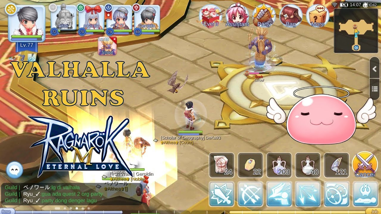 AKHIRNYA KELAR JUGA VALHALLA RUINS GUILD LEVEL 40 - RAGNAROK M ETERNAL LOVE  SEA