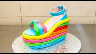 vuclip High Heel Wedge Shoe Cake - How To Make *Torta Zapato
