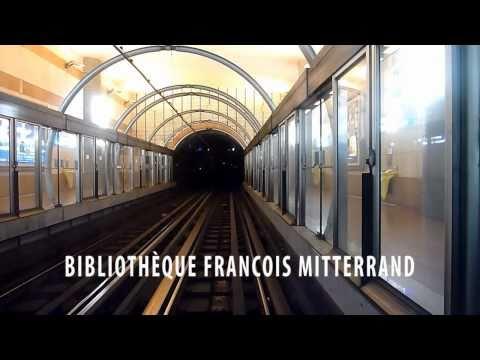 Paris Metro - Line 14 - St Lazare to Olympiades