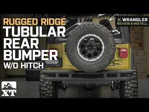 Jeep Wrangler Rugged Ridge Tubular Rear Bumper w/o Hitch (1987-2006 YJ & TJ) Review & Install