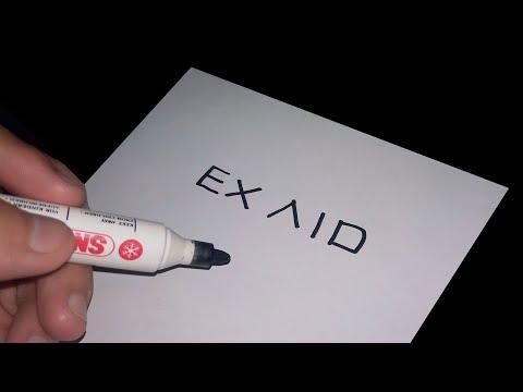 Mantap, menggambar Kamen rider ex aid dari kata ex aid (SPEED DRAWING)