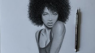 DRAWING A GIRL WITH CURLY HAIR