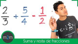 * Suma y resta de fracciones con diferente denominador │ MCM