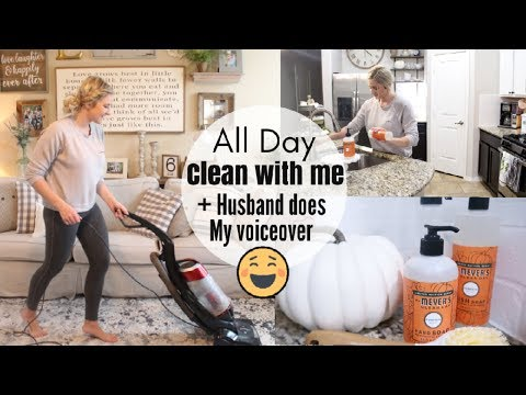 HILARIOUS HUSBAND DOES MY VOICEOVER   MAJOR CLEANING MOTIVATION 2018