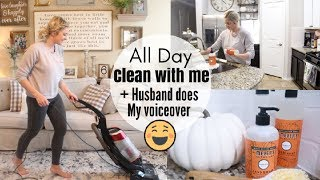 HILARIOUS HUSBAND DOES MY VOICEOVER | MAJOR CLEANING MOTIVATION 2018