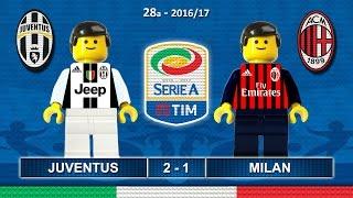 JUVENTUS MILAN 2-1 • Serie A 2016/17 ( Film Lego Calcio ) Goal Highlights 10/03/2017 • Juve Milan