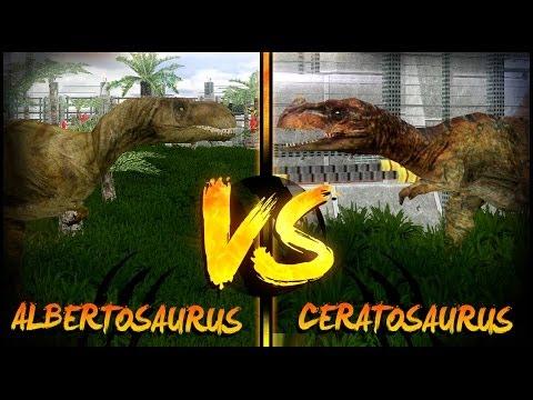 Dinosaur Battles - Albertosaurus Vs Ceratosaurus | Jurassic Park : Operation Genesis