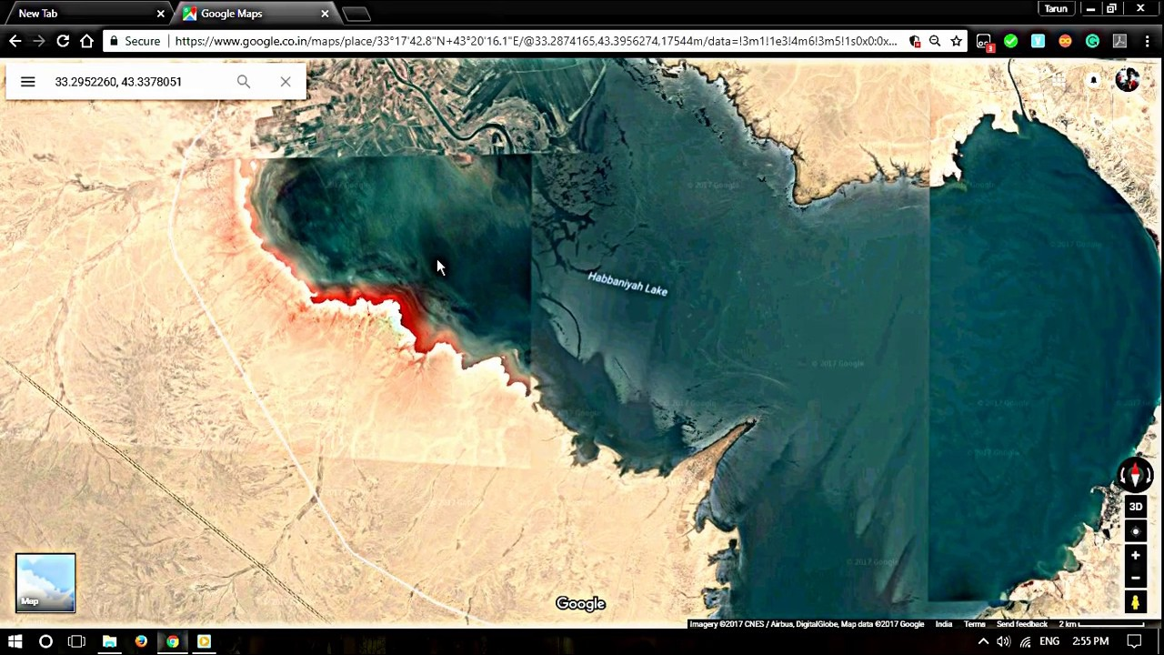 Found this mysterious Bloody lake in iraq |GOOGLE MAPS|