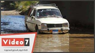 طفح مياه الصرف الصحى يهدد المواطنين بمنطقة السد العالى بكارثة