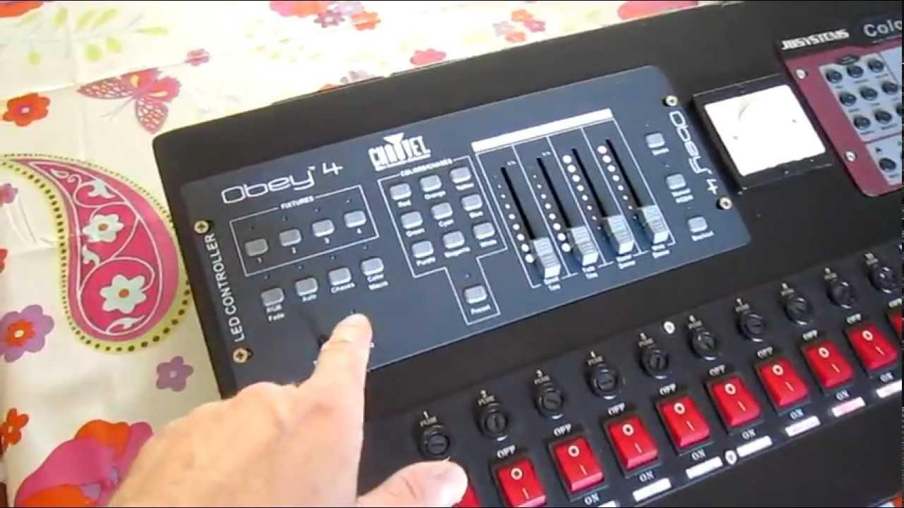 console pour jeux de lumires DMX de fabrication