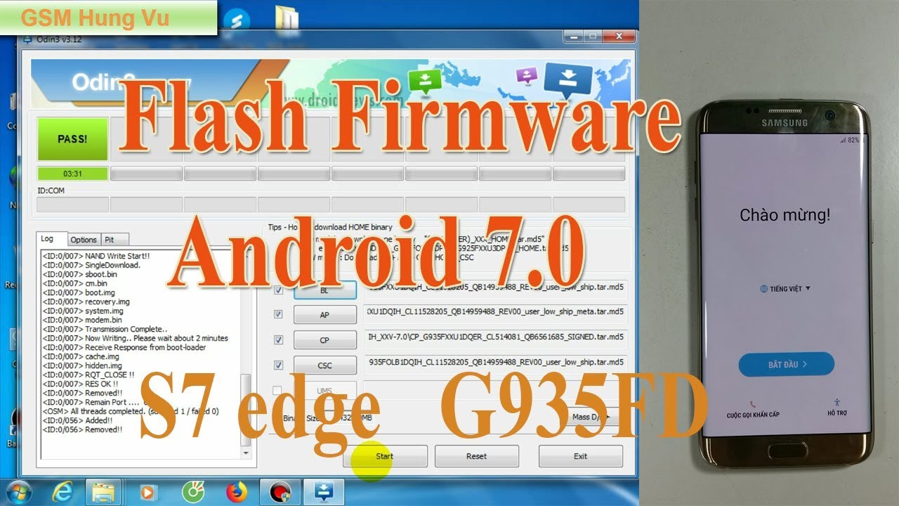 Flash full Firmware Android Nougat 7 0 S7 edge G935FD by Odin  - YouTube