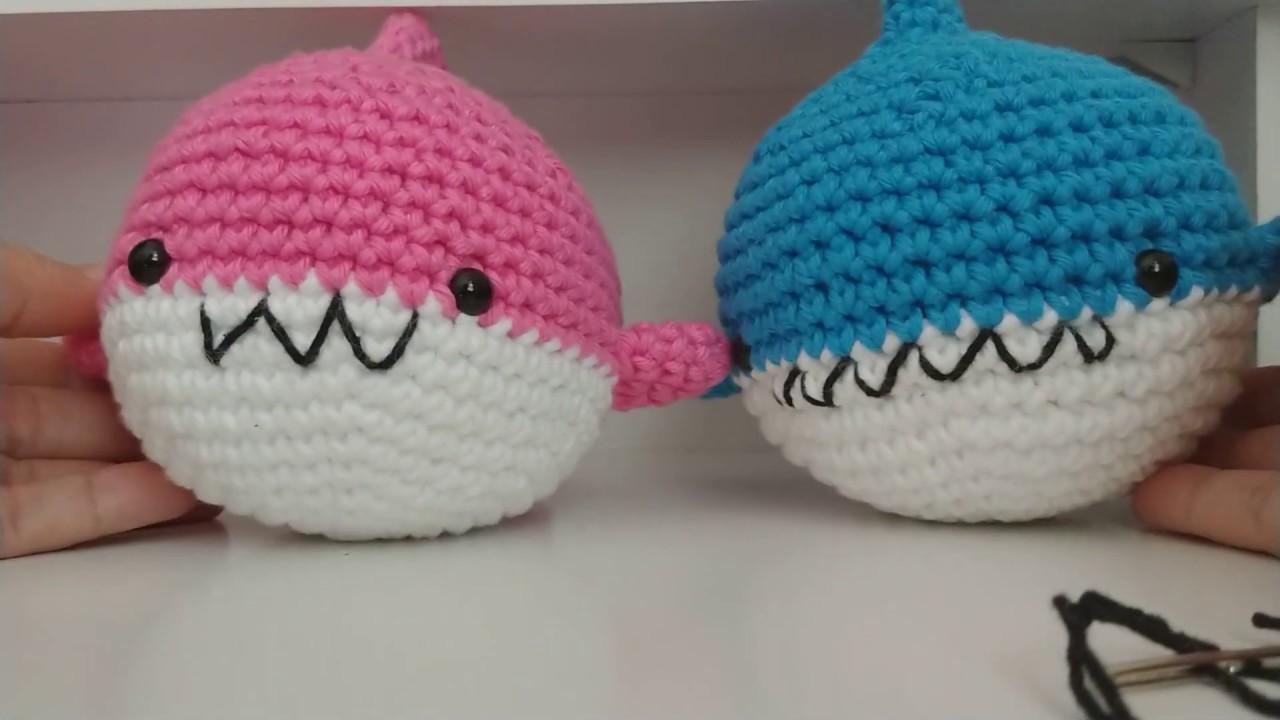 Baby Shark amigurumi | Amigurumi de animais de crochê, Bichinhos ... | 720x1280
