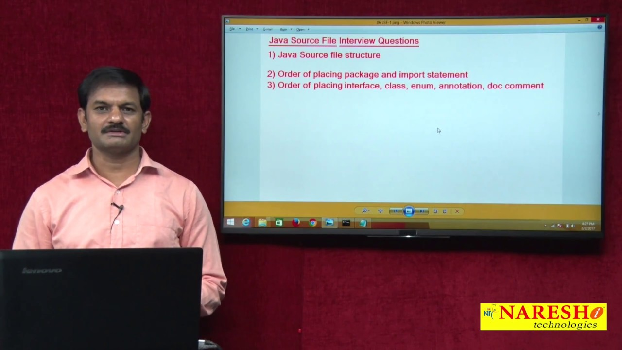 java source file interview questions part 1 core java tutorial java source file interview questions part 1 core java tutorial mr hari krishna naresh i technologies
