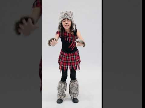 Werewolf Girl Child Halloween Costume