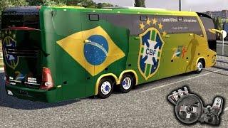 Euro Truck Simulator 2 - Seleção Brasileira - Apavorando os maluco! - Paradiso G7 - Com Logitech G27