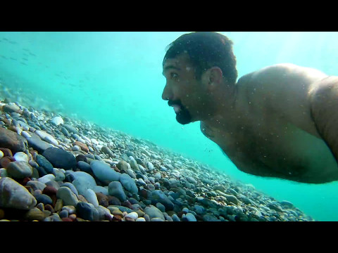 Antalya Konyaaltı Beach Park plajı H9 Aksiyon kamera ile çekim