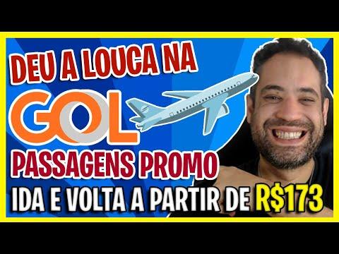 DEU A LOUCA NA GOL! PASSAGENS A PARTIR DE R$173! PREÇOS MUITO BAIXOS PASSAGENS GOL!