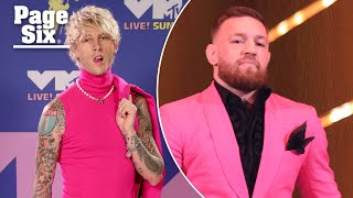 Conor McGregor and Machine Gun Kelly get into fight on VMAs red carpet   Page Six Celebrity News