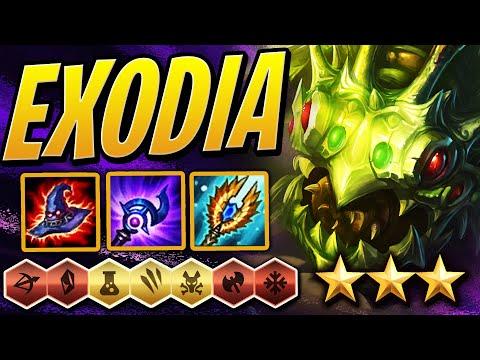 EXODIA 3 STAR KOG'MAW /w PERFECT SYNERGY! | Teamfight Tactics Set 2 | TFT | LoL Auto Chess