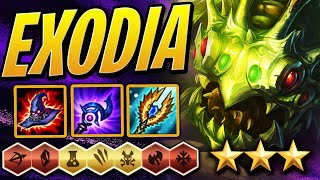 EXODIA 3 STAR KOG'MAW /w PERFECT SYNERGY! | Teamfight Tactics Set 2 | TFT | LoL Auto Chess